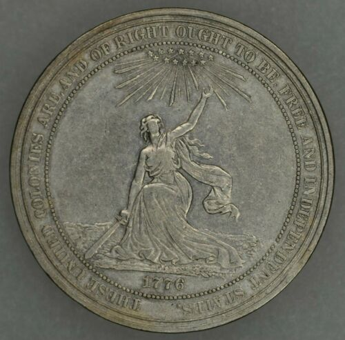 1876 Centennial Exposition Philadelphia Medal So Called Dollar Silver HK-20 XF