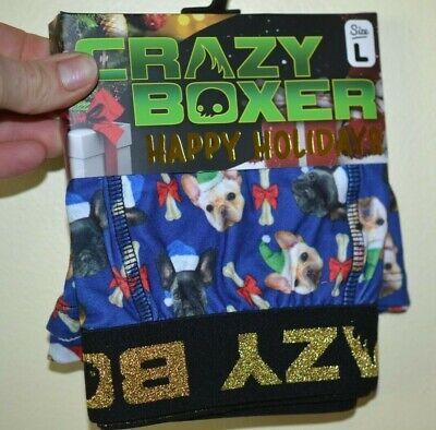 Christmas Boxers Crazy Boxer Dogs & Santa Hats Bones with Bows Holiday Boxers](Crazy Santa Hats)