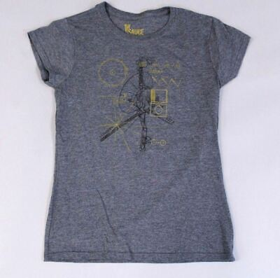 V Sauce Exclusive Women's S/S Voyager 1 1977 Classic Tour T-Shirt BF5 Grey Small S/s Sauce