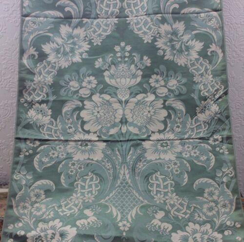 "French Antique ""Hamot"" 19thC Silk Brocaded Lampas Fabric Sample~Frame Layout"