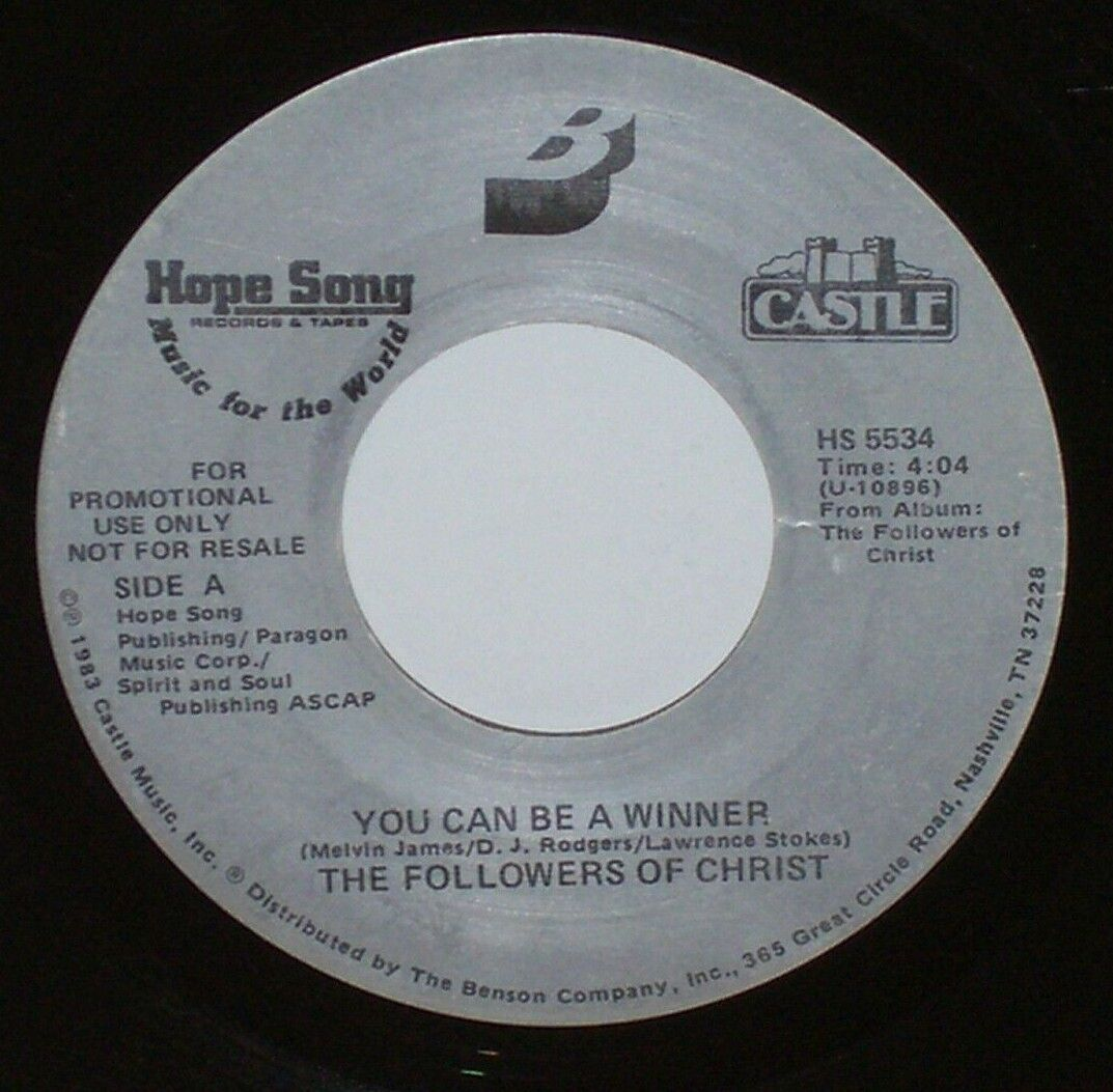 THE FOLLOWERS OF CHRIST You Can Be A Winner 45 RPM SOUL BLACK GOSPEL - $5.99