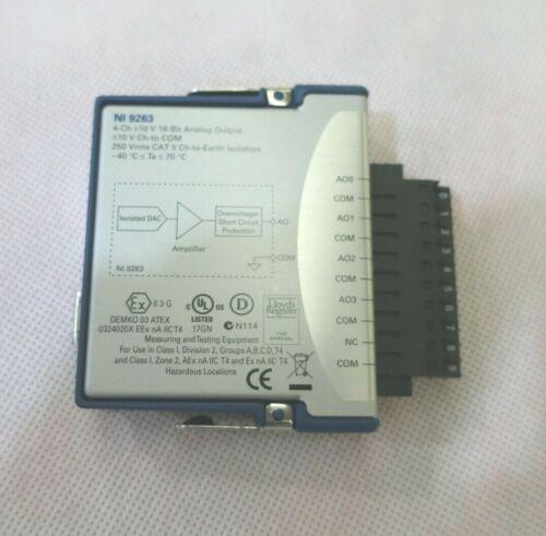 National Instruments NI 9263 - 4-Ch +/- 10v 16bit Analog Output - NOS