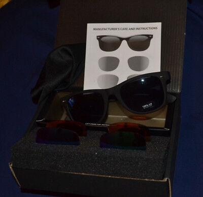 Sunglasses with Interchangeable Lenses, 100% UV (Sunglasses With Interchangeable Lenses)