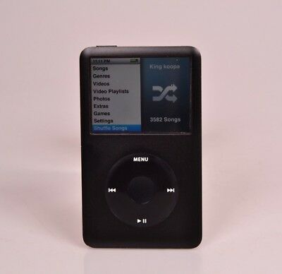 Black Apple iPod Classic 160 Gb 6th Near Mint Perfect HDrive w/Accessories (86)