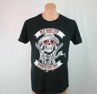 Black Best Night Ever Kid Rock Summer Tour 2013 Sz L Shirt Concert Band