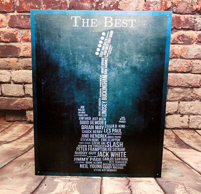The Best Guitarists of all time Metal Sign for Man Cave, Garage or