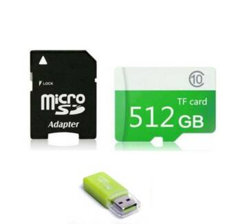 NEW - 512GB Micro SD Card with Adapter and Reader