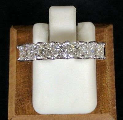 1 Ct Princess Cut Diamond Seven Stone Wedding Band In 14K White Gold