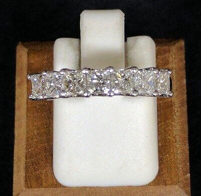 1 Ct Princess Cut Diamond Seven Stone Wedding Band In 14K White Gold