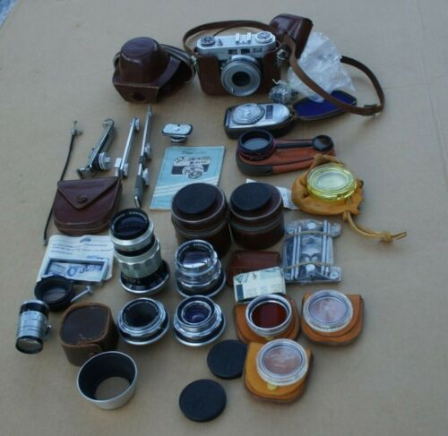Diax IIb Camera Lot,4 Lenses, Accessories.Please Read&See Pictures.