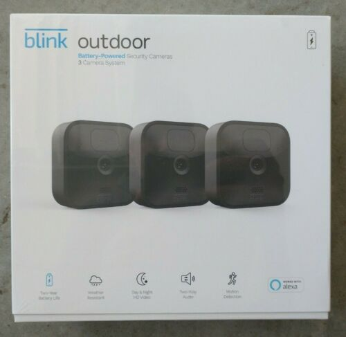 3 Camera Kit - Blink Outdoor (3rd Generation) Security Camera System -NEW !