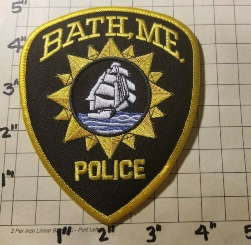 Bath (ME) Police Department Patch      ***NEW***