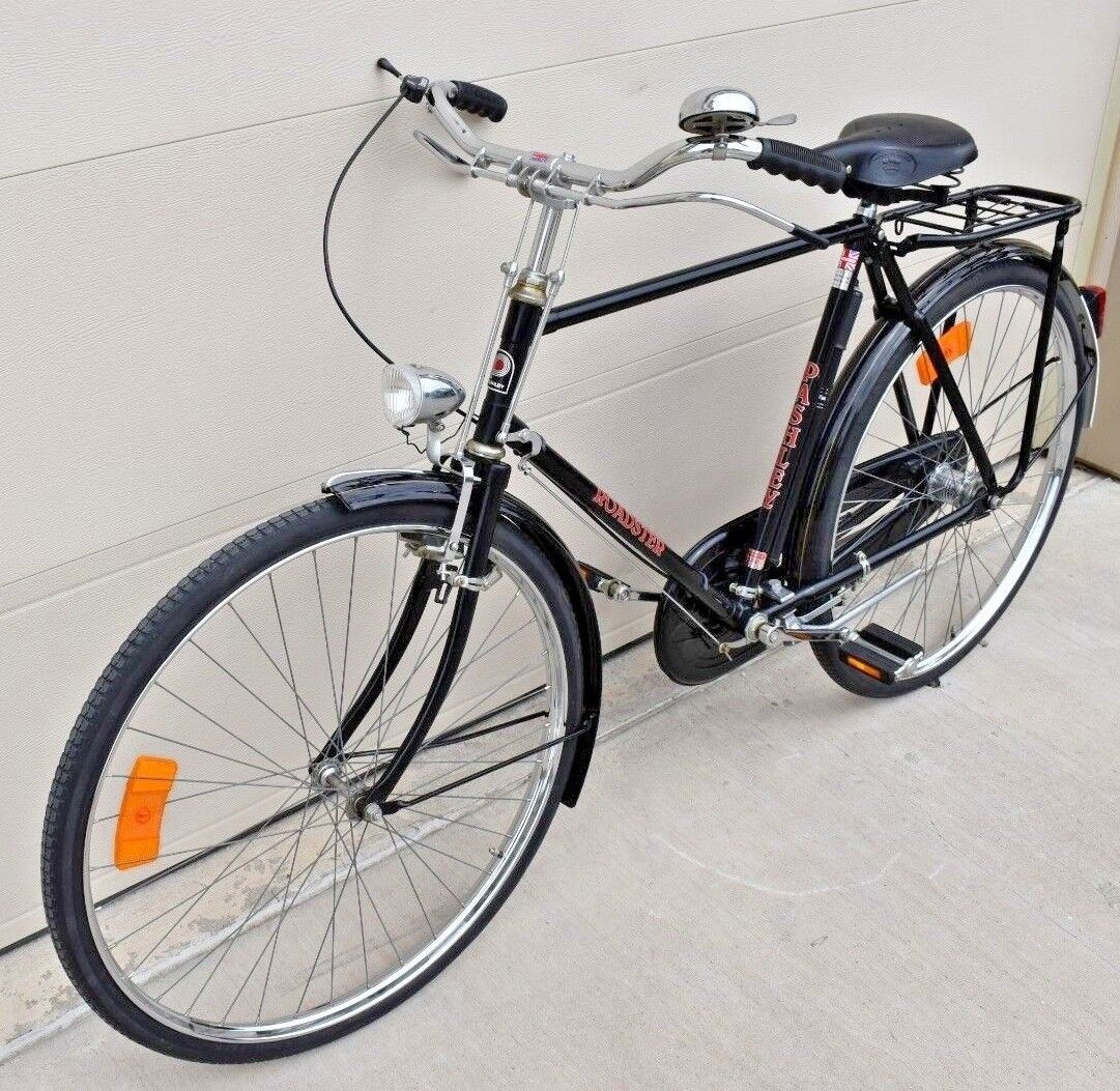 VINTAGE PASHLEY ROADSTER TOURING BIKE - MADE IN ENGLAND - 3 SPD - LEATHER SEAT  (Used - 500 USD)