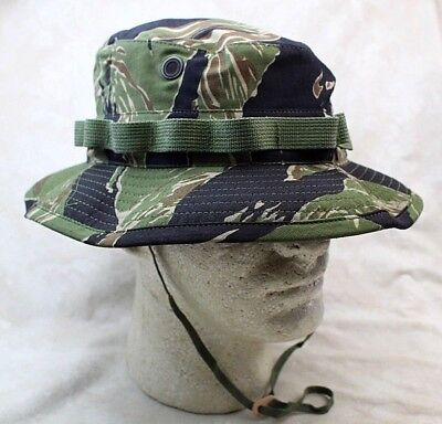US Vietnam Tiger Stripe Camo Boonie Hat Sun - Authentic Reproduction - USA MADE