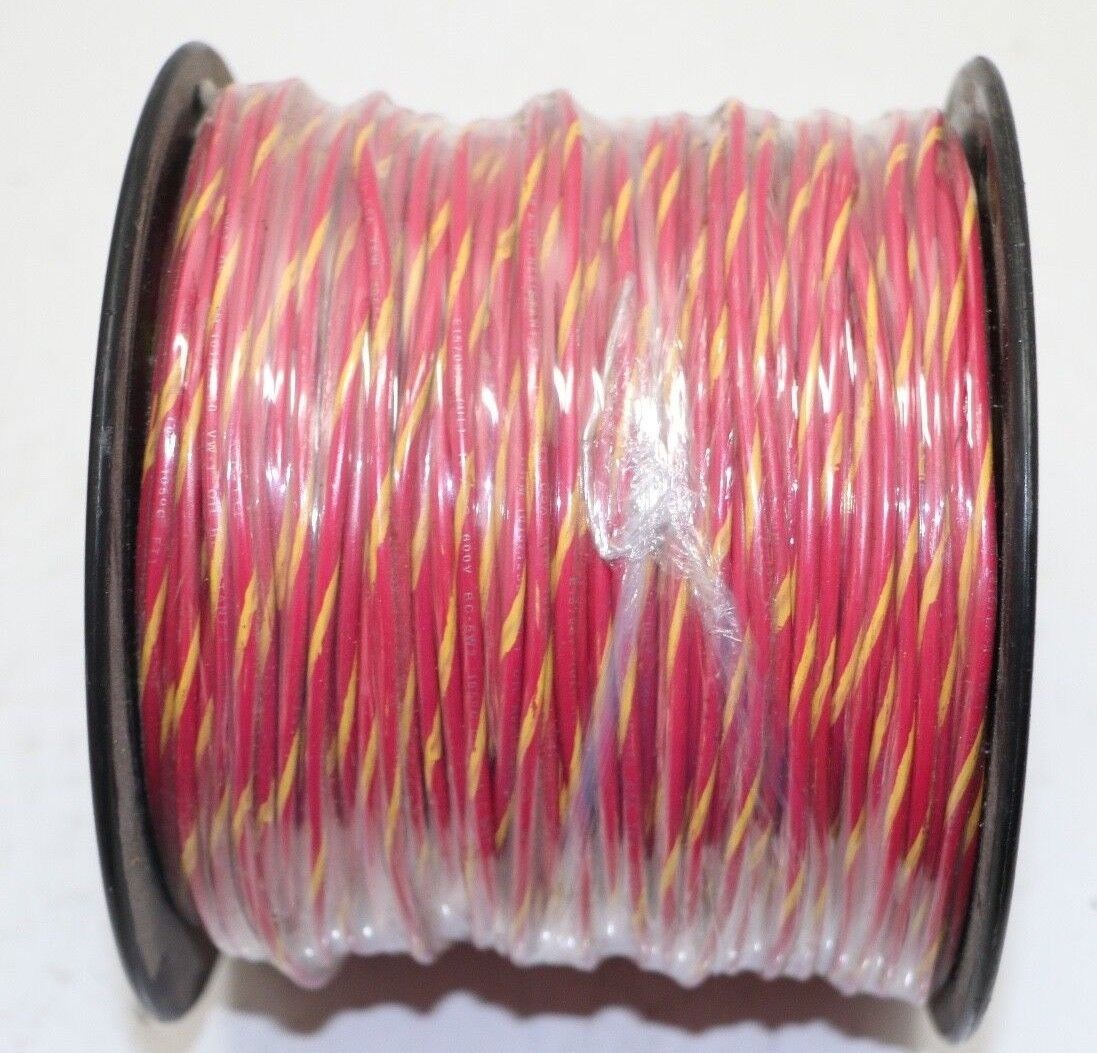 Pacer 16 AWG Marine / RV/Car Tinned Copper UL Primary Red/Yellow Wire 500' Spool