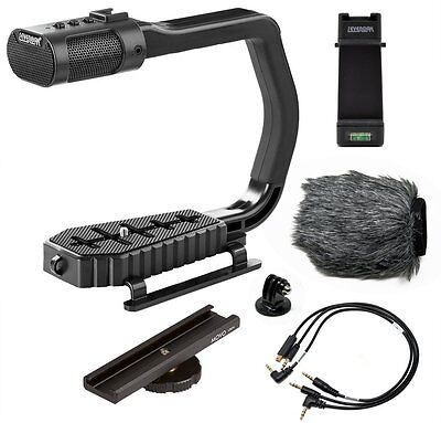 Sevenoak MicRig Video Grip Stereo Microphone Handle f/ DSLR Camera//iPhone/GoPro