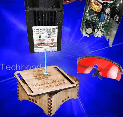Engrave Laser 450nm 2500mw Blue Buner Laser Module2.5w Blue Laser Bunnerttl