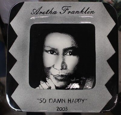 Extremely Rare Aretha Franklin So Damn Happy Plate-Vases With Faces 22/30 - Extremely Happy Face