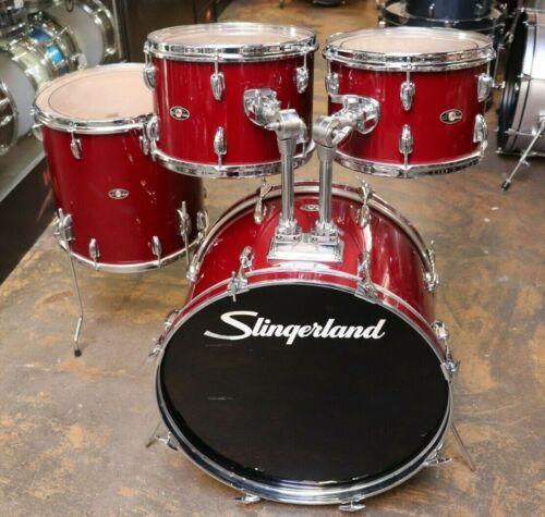 Slingerland 4pc Drum Kit Shell Pack Red 1970