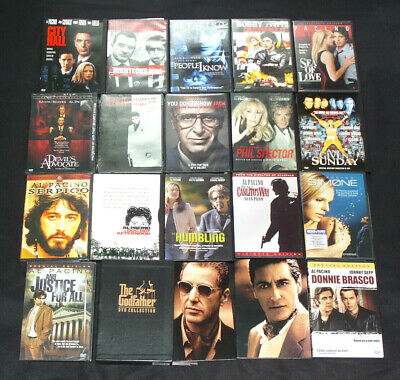Al Pacino Collection 20 Movies DVD SET Lot The Godfather, Scarface Box AUTHENTIC