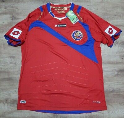 Costa Rica 100% Original Soccer Jersey Football Shirt 2014 World Cup Home L NEW image