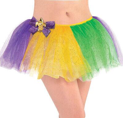 Mardi Gras Womens Adult Short Glitter Festive Holiday Tutu (Adult Mardi Gras Kostüme)