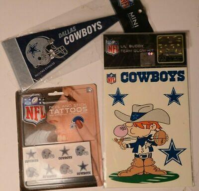 Dallas cowboys NFL 8 Mini Pennant Peel Stick Tattoos & Sticker Lot ()