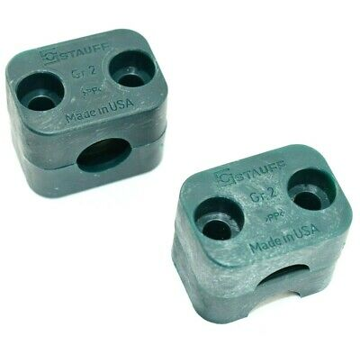 Pack Of 2 - 212.7-pp Stauff Plastic Clamp Set - 1130005237 - Gr. 2 Green