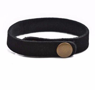 Разное 5 BLACK LEATHER CUFF Bracelet