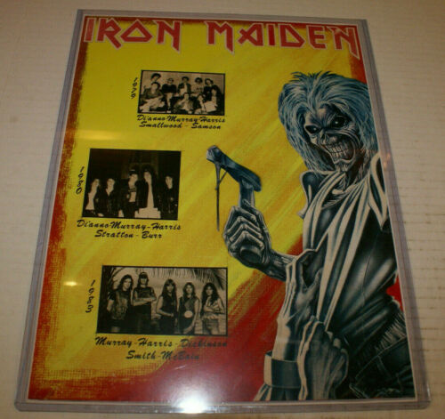 Iron Maiden Rare Nwobhm Band History Laminet Poster With Killers Era Eddy 1983