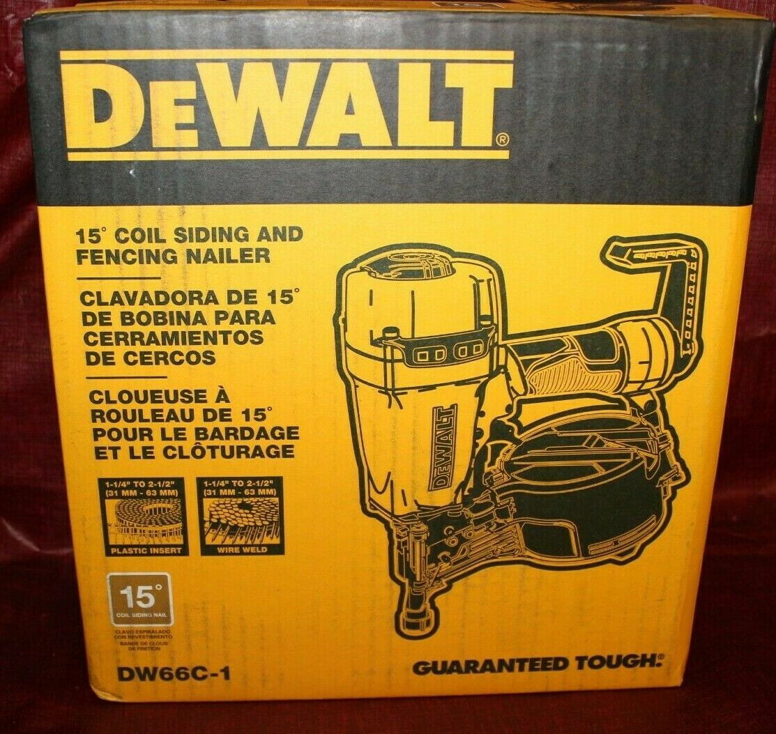 Brand NEW DeWalt 15 Degree Coil Siding and Fencing Nailer Mo