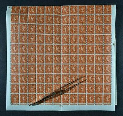 QEII, 1958, 1/2d. value SG 570, COMPLETE SHEET of 240 stamps, UM condition.