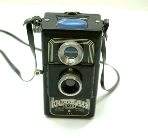 Vintage HERCO FLEX 6-20 TLR Film Camera 620 ~ Made in USA