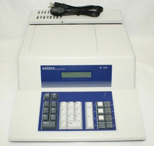 Maverick M-610 Exception Check Encoder MICR With Power Cord WITH PRINTED MANUAL