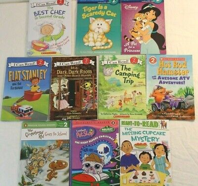 Mixed Lot Of 10 Level 2 I Can Read Step Into Reading Scholastic Paperbck Readers
