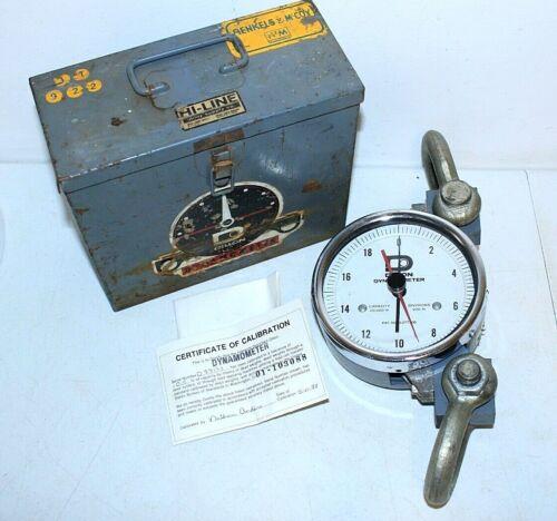Dillon Dynamometer - 20,000 lb. Capacity, 200 lb Divisions, w/Case