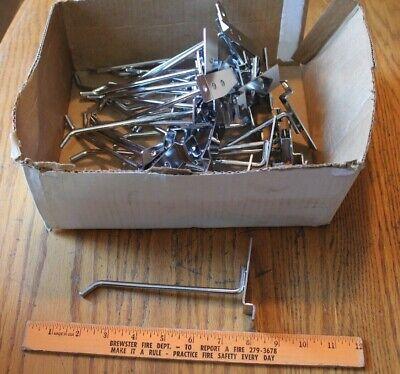32 Pieces 6 Inch Peg Slat Board Shelving Tool Hooks Storage Board Zinc Plated