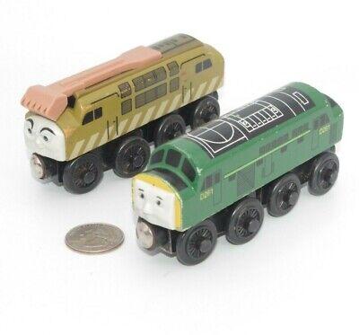 Thomas Friends Wooden Railway Train Tank Engine - D261 & Diesel 10 Lot x2 GUC
