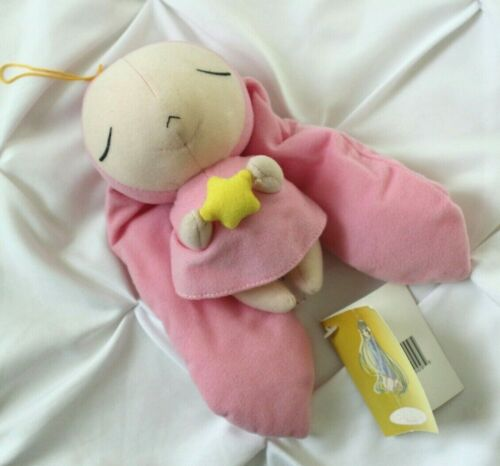 "CHOBITS Atashi Plush Doll 9"" Anime Merchandise CLAMP Pink Bunny Star Kawaii NWT"