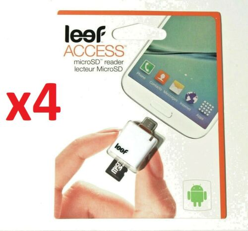 Lot of 4 Leef Access microSD Card Reader for Android™