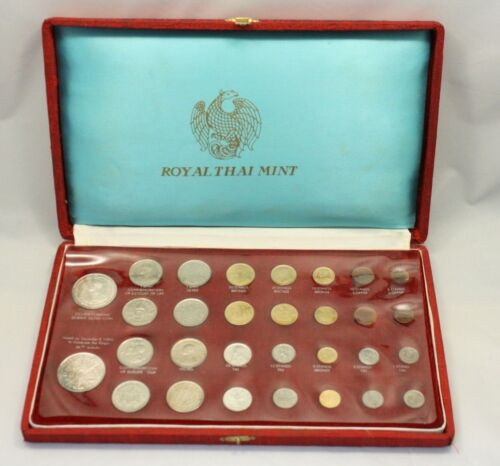 Royal Thai Mint 30 Piece Commemorative Thailand Coin Set in Original Box