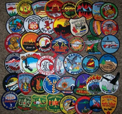 """*CLEARANCE*  WILDLAND - 45 Total Fire Patch Set   """"NO DUPLICATES IN SET"""""""