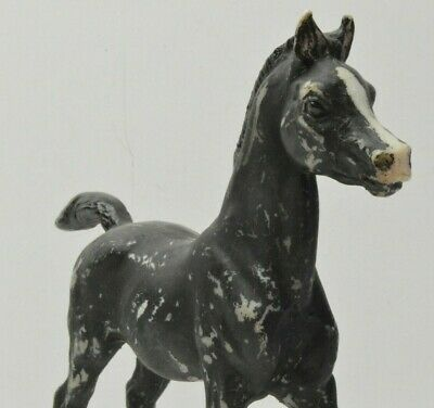 Breyer Horse Black/white pony Arabian standing pose Toy Figure 6in X 6in tall