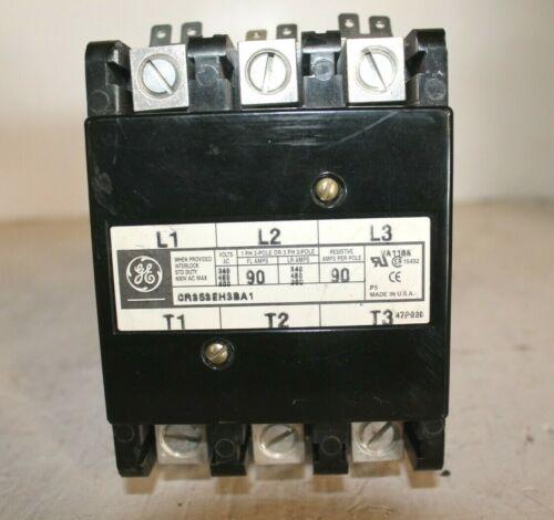 GE CR353EH3BA1 600Vac Max Contactor Motor Starter 90 Amp 3 Pole Open