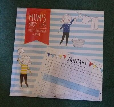 SUPER MUM - Mum`s Busy Life Family Organiser 2019 - 5 Column