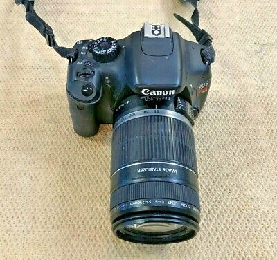 Canon EOS Rebel T2i / EFS 55-250MM lens DSLR Camera w/ charger and strap