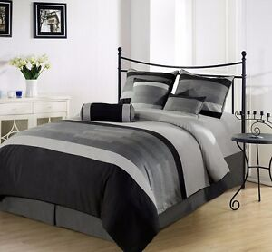 Chezmoi-Collection-7-Piece-3-Tone-Embroidered-Comforter-Set-Full-Black-Gray