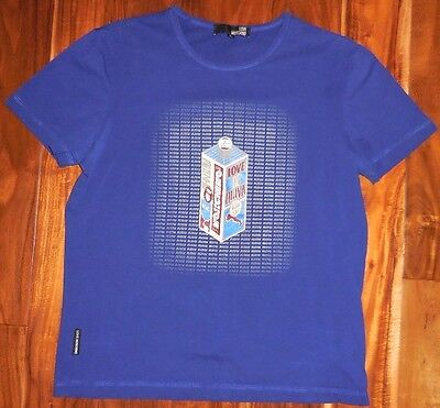 Love Moschino Authentic Men's Blue SS Crew T-Shirt size XL