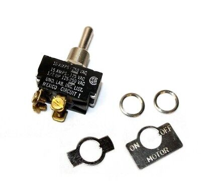 Carling 3-position On-off-on Toggle Switch 10a 250 Vac 15a 125vac 12 Hp