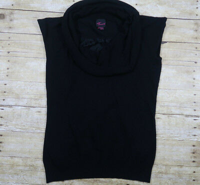 Torrid Women's Plus 3 3X 22/24 Top Sleeveless Cowl Neck Black Lace  Black Lace Cowl